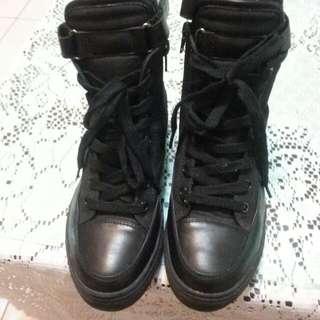 厚底高筒鞋