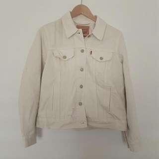 White Levi's Denim Jacket Size L/12