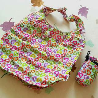 Handy re-usable tote bag for shopping
