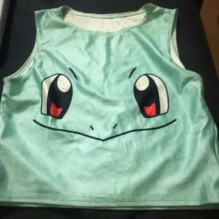 Squirtle Crop Top Xs