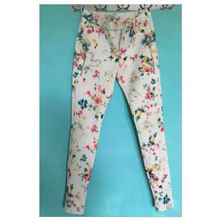 Authentic Zara flower pants