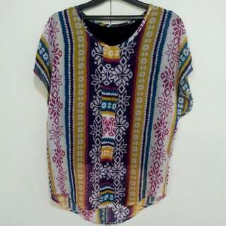 Woman's Top With Traditional Pattern