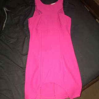 Xenia Boutique Xs Hot Pink Dress