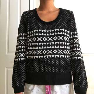 Tribal-printed Jumper