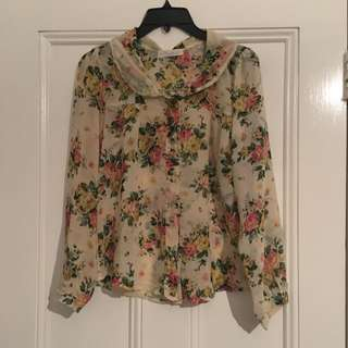 Neverland Floral Blouse Size S