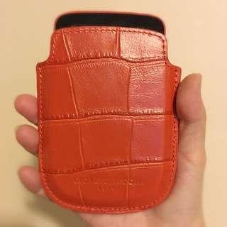 大減價 Giorgio Fedon 1919 意大利名牌真皮橙色手機套
