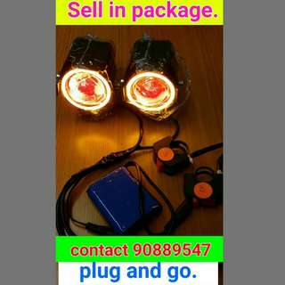 U7 Angel Eye Fog Light In Package.