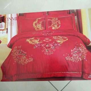 Traditional Wedding Bed Sheet