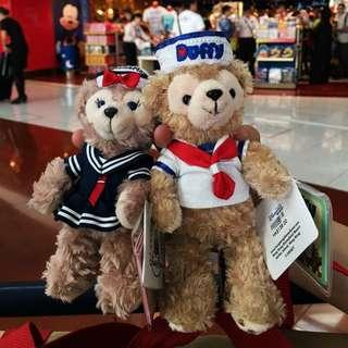 現貨 香港迪士尼 全新正品 限量版 水手服 Duffy&Shelliemay 達菲 雪莉梅 鑰匙圈