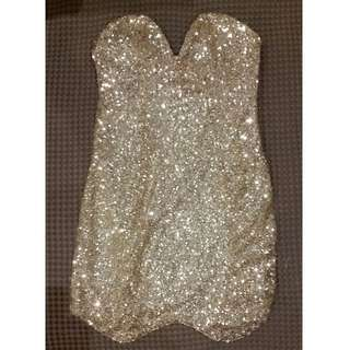 gold sequin loose size 10 dress