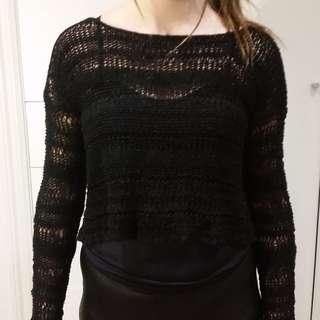 black crochet size 10 jumper