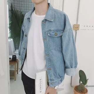 韓國秋款男牛仔外套