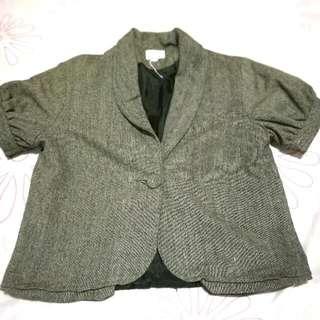 Padded Short Sleeve Blazer