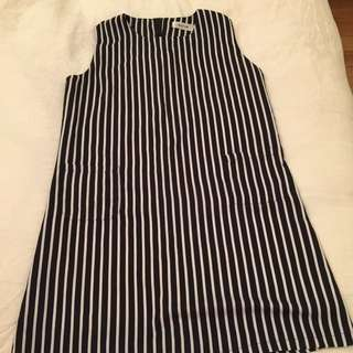 Stripe Pattern Shift Dress