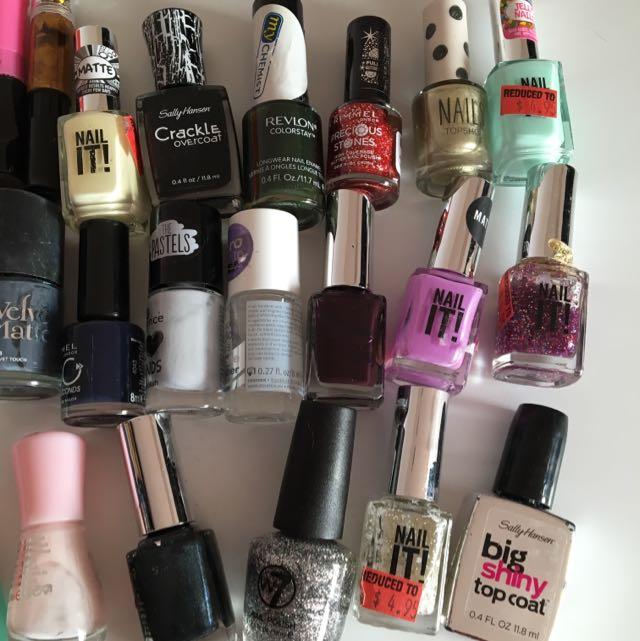 20 Colors Nail Polish Bundle With Correction Pen And Lots Topshop SPORTSGIRL Sally Hansen Rimmel W7