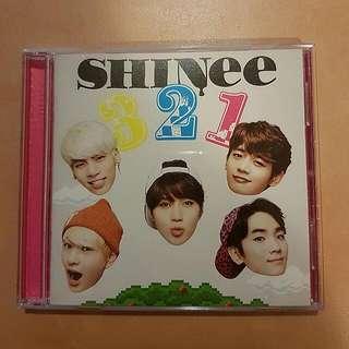 Shinee 3 2 1 CD+DVD Album + Photobook