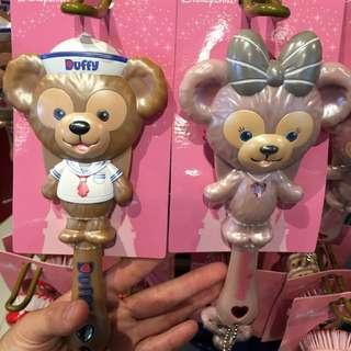 香港迪士尼 全新正品 Duffy&Shelliemay 達菲 雪莉梅 造型梳子 附小鏡子 現貨