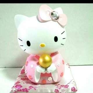 (降價)Hello Kitty 日式和風撲滿(粉紅色) 正版(有紙盒子)