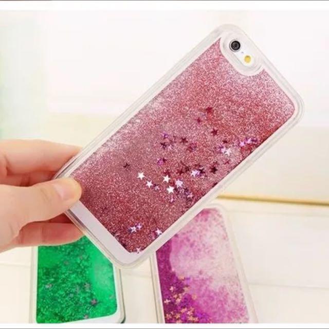 全新6s Plus粉紅流沙來電閃手機殼