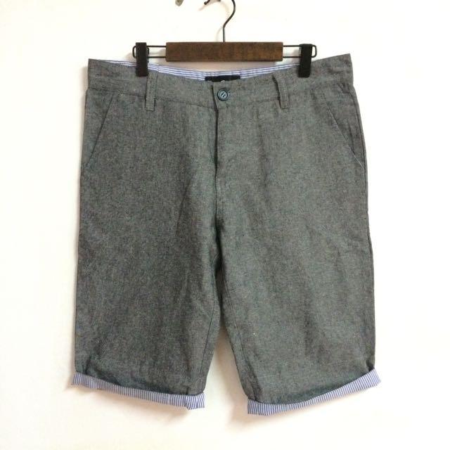 休閒風棉麻短褲