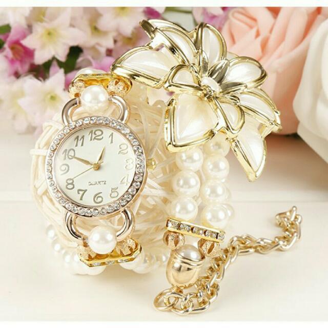 全新花朵氣質鍊錶