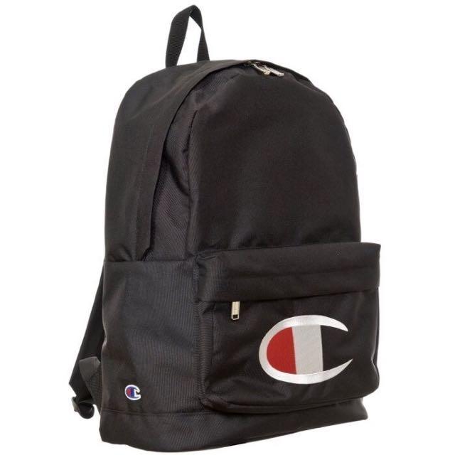 日本購回 Champion x Wego 冠軍背包 限定款 電繡 大C Logo 書包 後背包 黑色 現貨