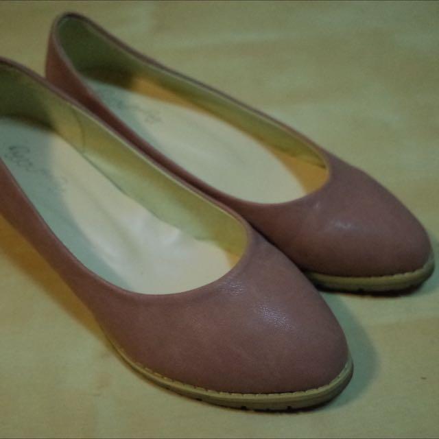 正韓 購於gmarket 内增高 楔型 粉紅色 娃娃鞋
