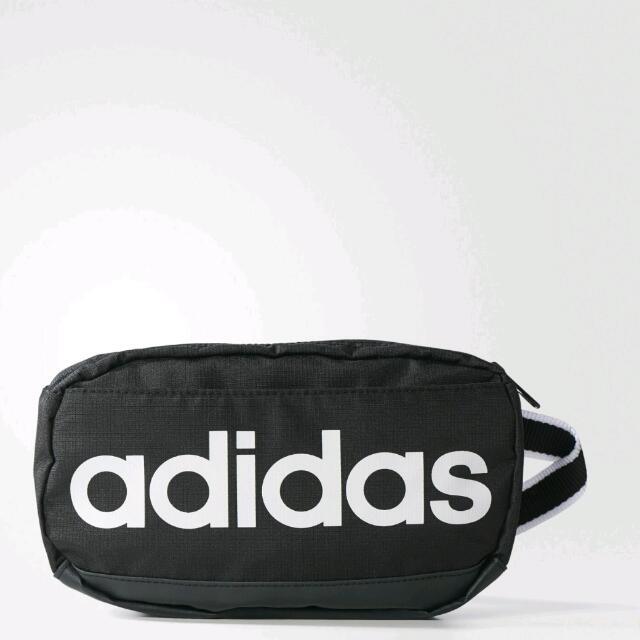 ADIDAS運動腰包 斜背包 黑色