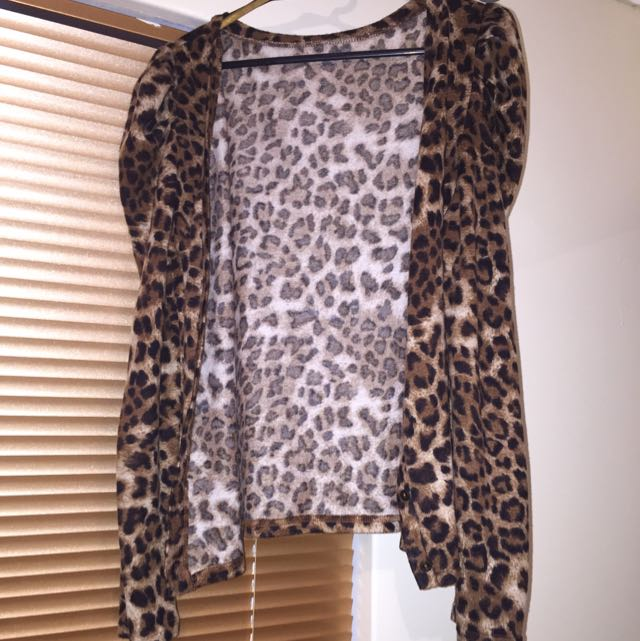 Ally Leopard Print Cardigan Size 10-12