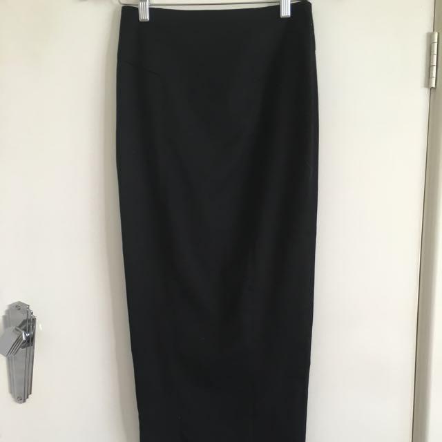 ASOS Black Full Length Pencil Skirt