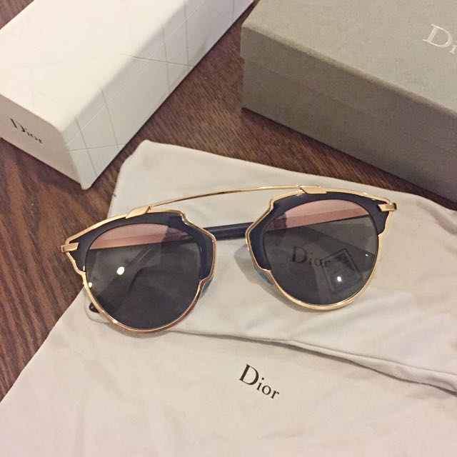 fd5bc8077022 Authentic Dior So Real Pink Rose Gold Blue Sunglasses