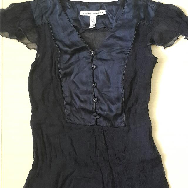 Authentic DVF Diane Von Furstenberg Silk Top Sz 4 (Fit XS-S)
