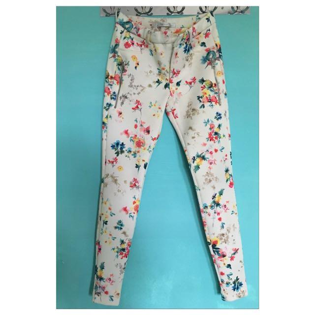 Authentic Zara flower pants