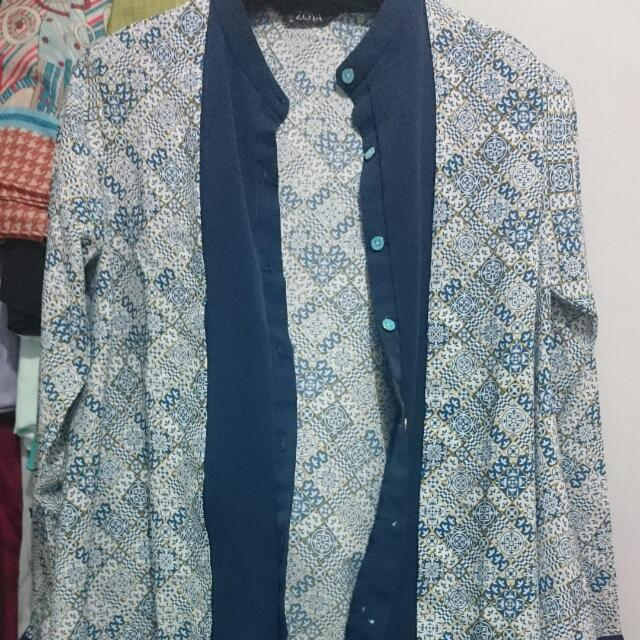 Baju Muslim Batik Model Cardigan Tempel By Zoya