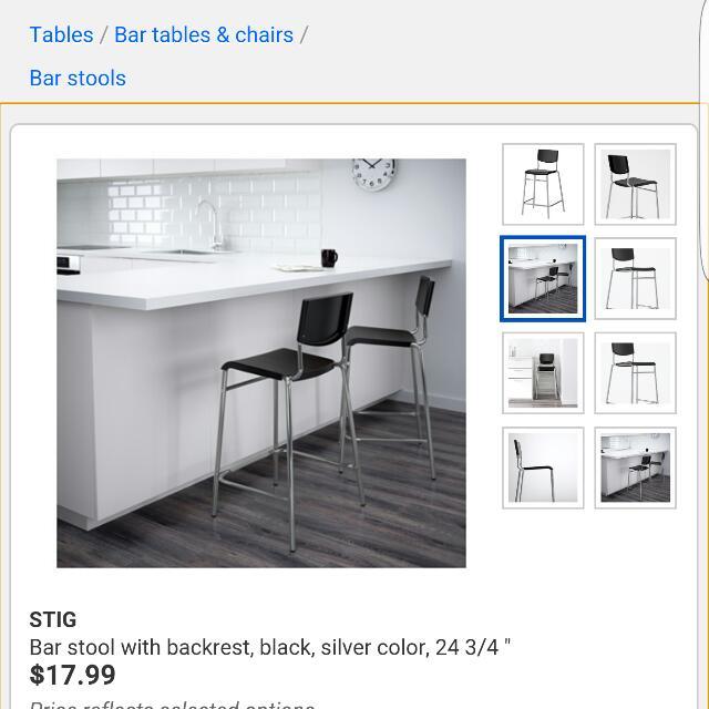 2 Bar Stools From Ikea