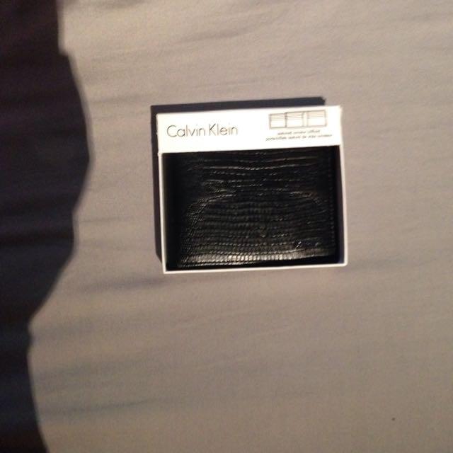 Black Calvin Klein Wallet