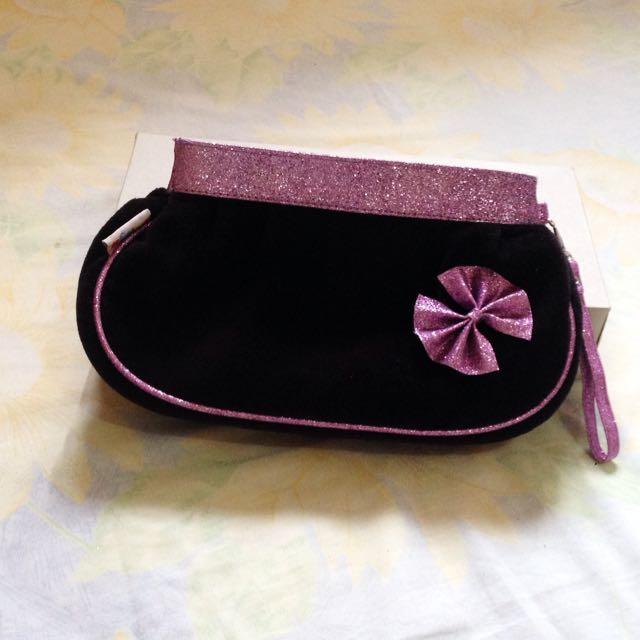 Black Purple Purse / Clutch