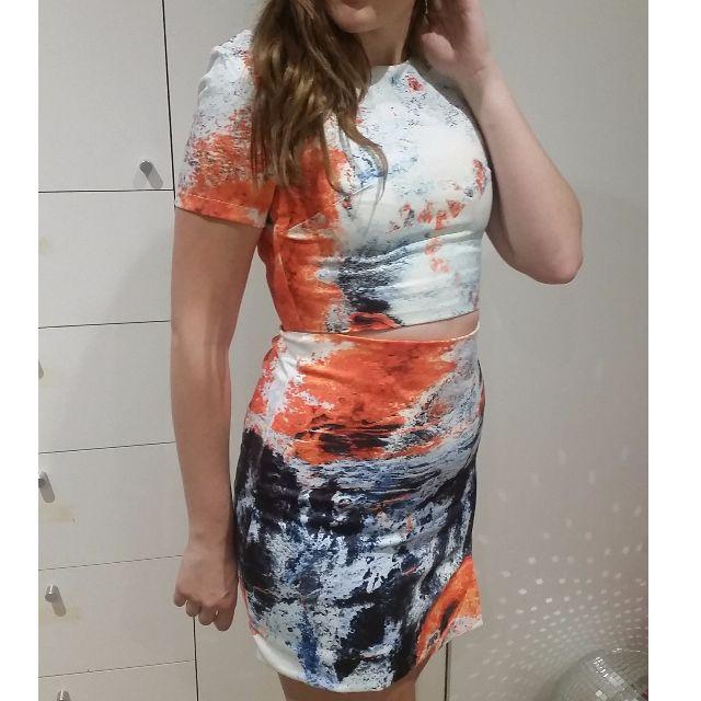 blue and orange dress size 10 never worn