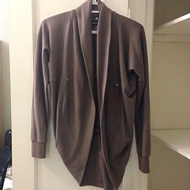 Brown Studded Cardigan