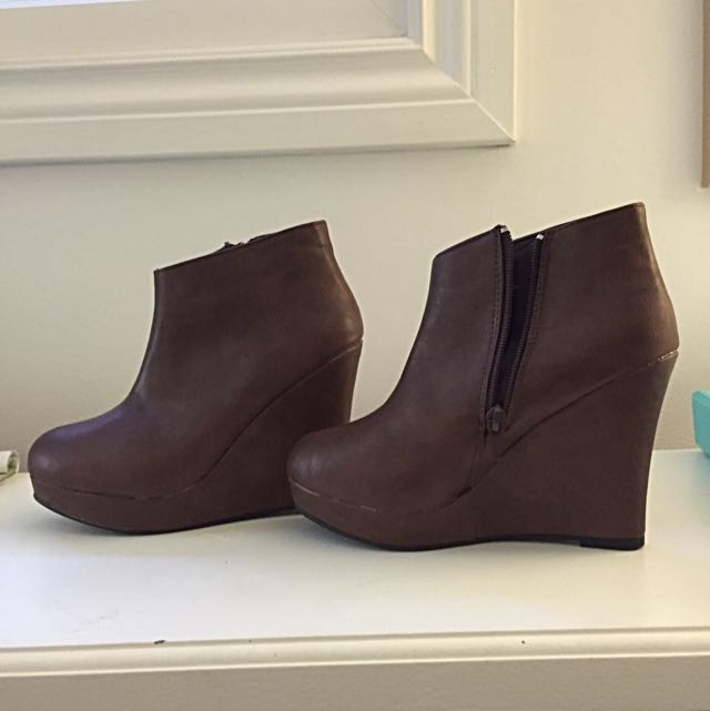 Brown Wedge Heels Size 7