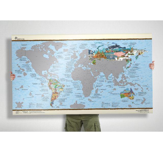 Bucketlist世界地圖 - 刮刮樂版