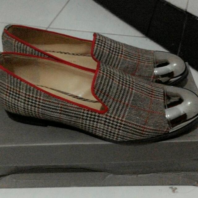 Charles And Keith Tartan Shoes