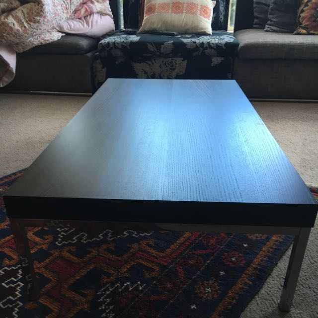 Coffee Table Dark Brown As New