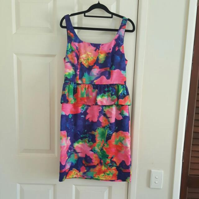 Collection Multi Coloured Dress Size 10