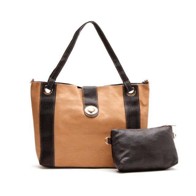 Cream Shoulder / Sling Bag
