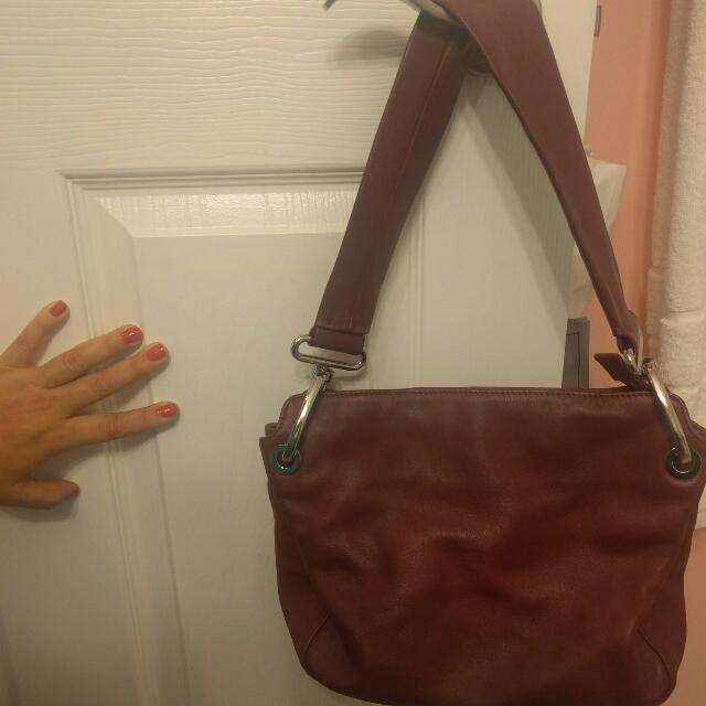Deep Burgundy Genuine Leather Bag