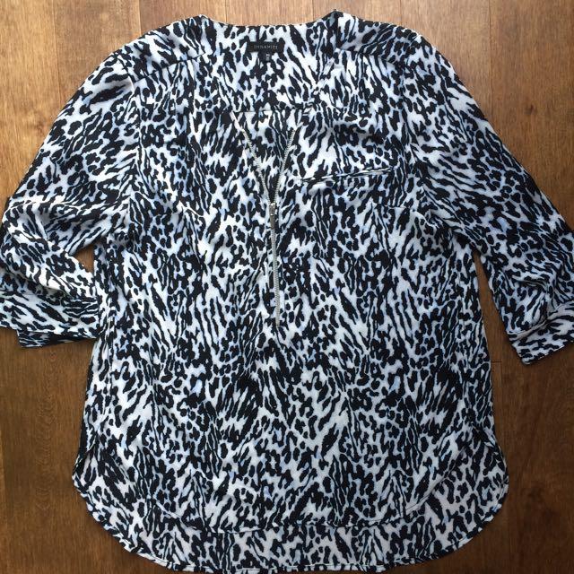 Dynamite Animal Print Blouse Size S