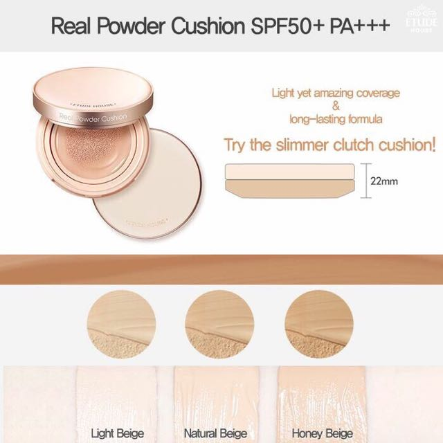 Etude House Real Powder Cushion SPF50+