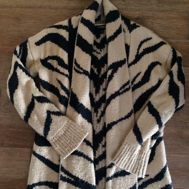 Express Animal Print Sweater Size S