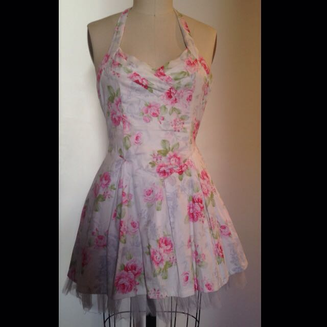 Floral White/Pink Dress